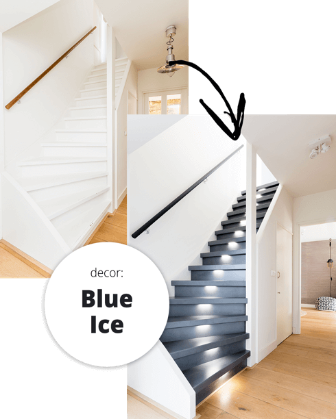 Blue Ice traprenovatie collectie Upstairs